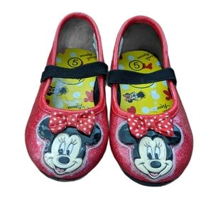 Disney Minnie Mouse sparkly red flats